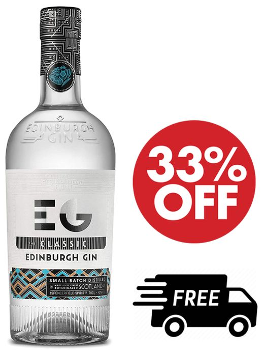 Cheap Classic Edinburgh Gin 70cl + FREE DELIVERY at Amazon
