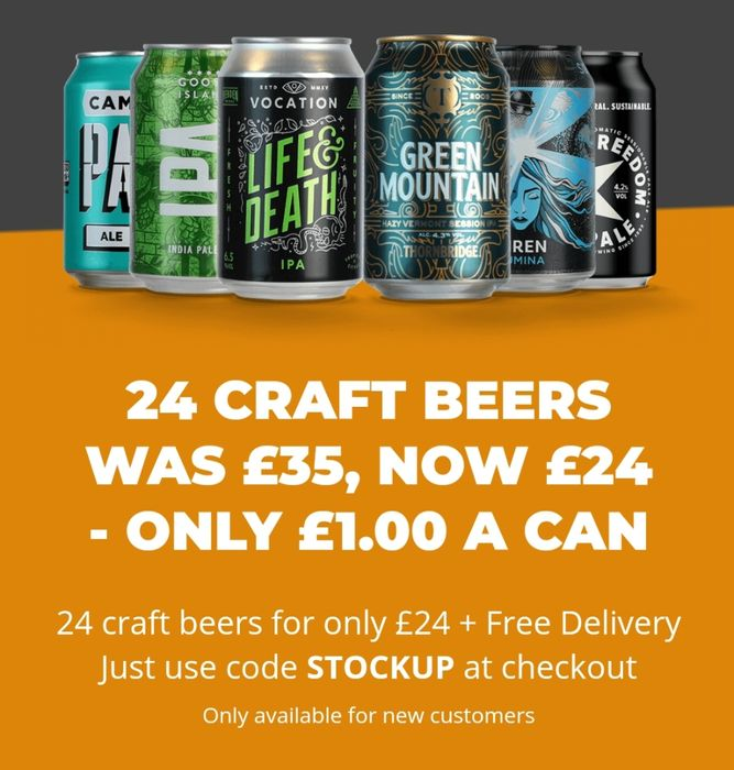 24 Craft Beers Was £35, Now £24 - Only £1.00 a Can