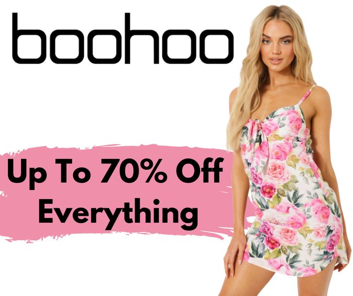 boohoo Flash Sale! Up To 70% Off Absolutely Everything