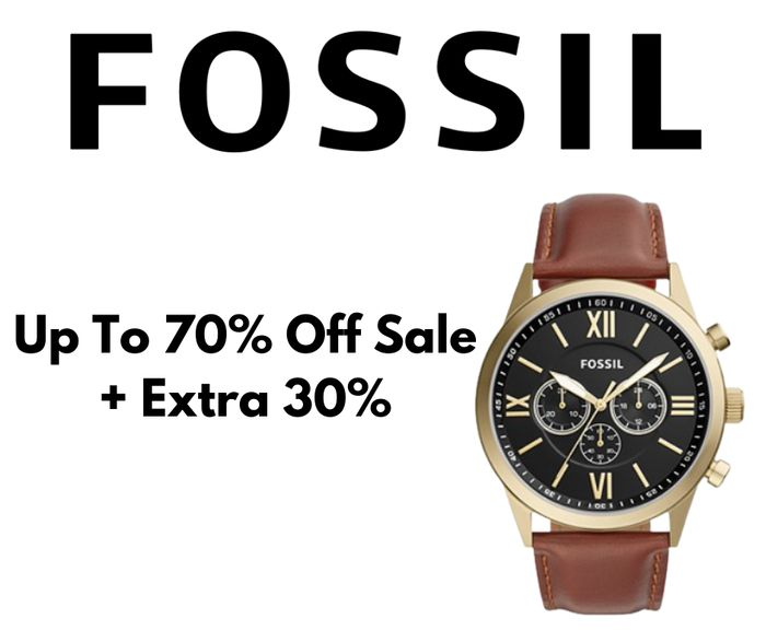 Fossil Outlet Up To 70% Off + Extra 30% Off & Free Delivery