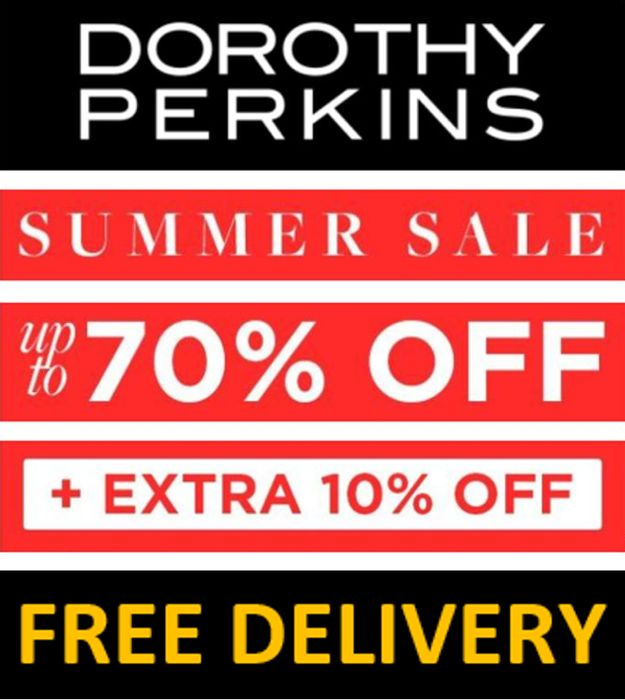 Dorothy Perkins Sale - up to 70% off + 5% OFF + FREE DELIVERY + ANOTHER 10% OFF