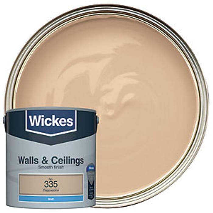 Wickes Cappuccino - No.335 Vinyl Matt Emulsion Paint - 2.5L