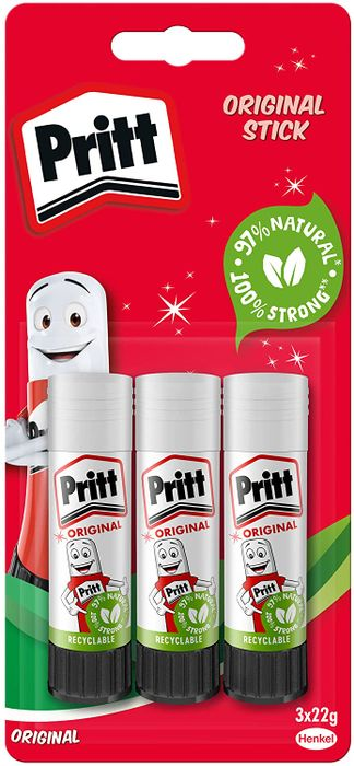 Pritt Glue Stick 3pk