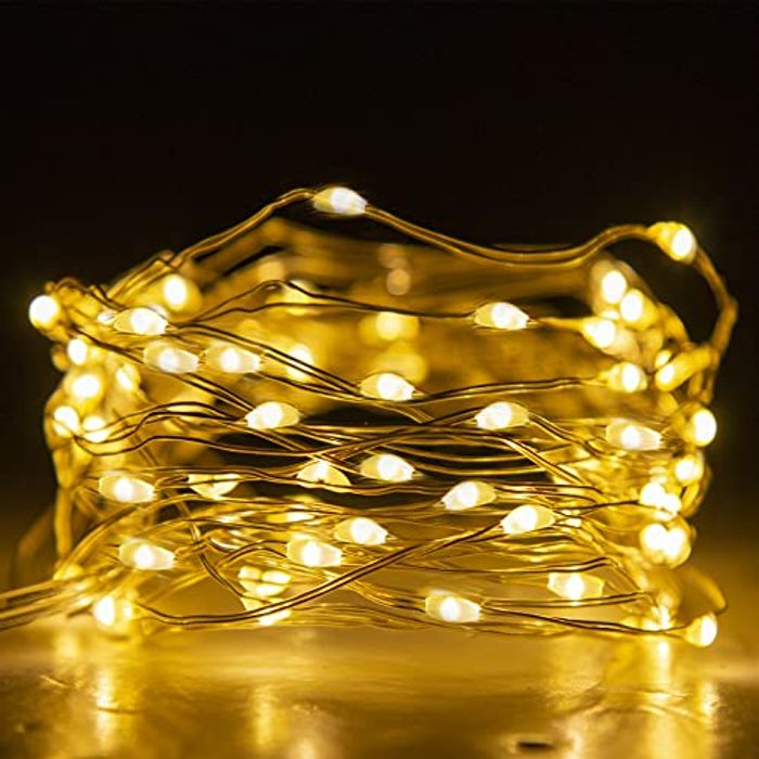 EAMBRITE 50 LED Waterproof Fairy Lights Battery Operated with 8 Modes