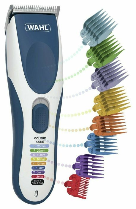 CHEAP! Wahl Colour Pro Cordless Hair Clipper with 10 Attachments