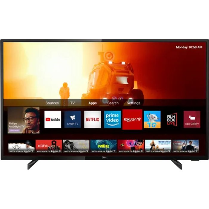 """Special Offer! Philips 43"""" Smart 4K Ultra HD TV £296.10 with Code"""