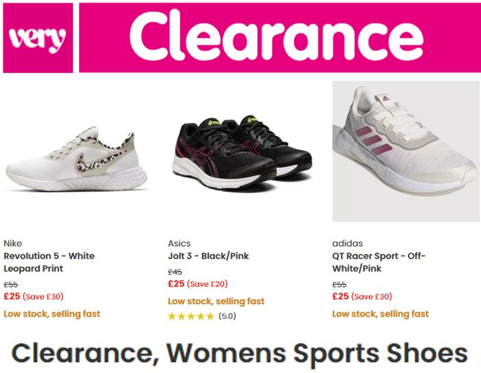 VERY CLEARANCE - Women's Trainers - NIKE, ADIDAS, ASICS, CONVERSE...