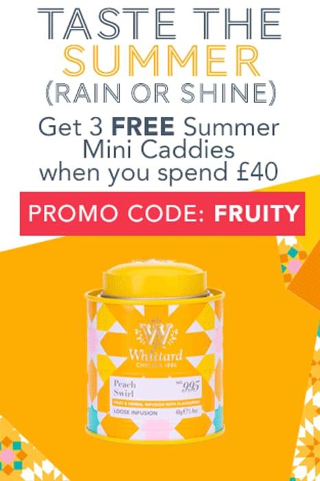 3 Free Summer Mini Caddies When You Spend £40