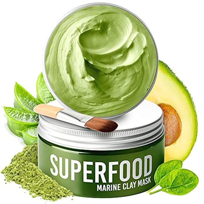 Clay Mask by Plantifique - 100% Vegan Face Mask with Avocado & Green Tea