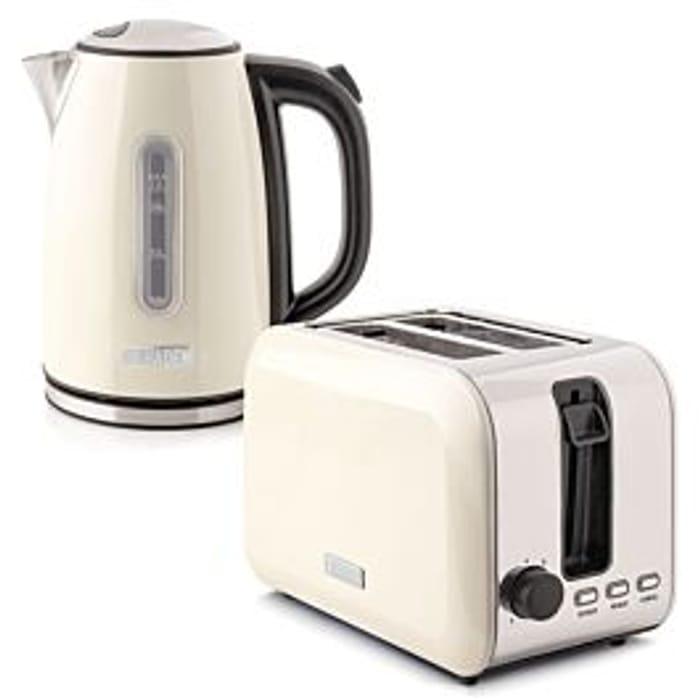 Best Price! Haden Tunbridge 1.7L Kettle & 2-Slice Toaster Twin Set - Cream