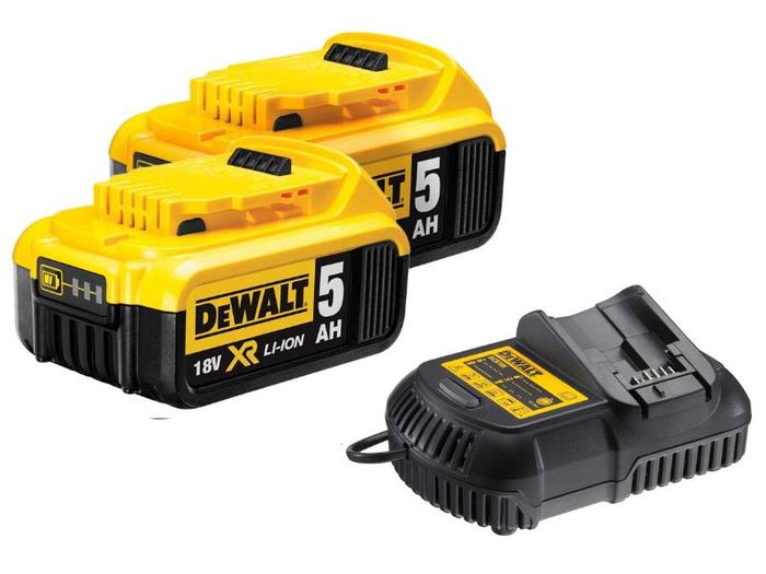 DeWaltDCB184/DCB115 2x5Ah XR 18v Li-Ion Battery Pack and Charger