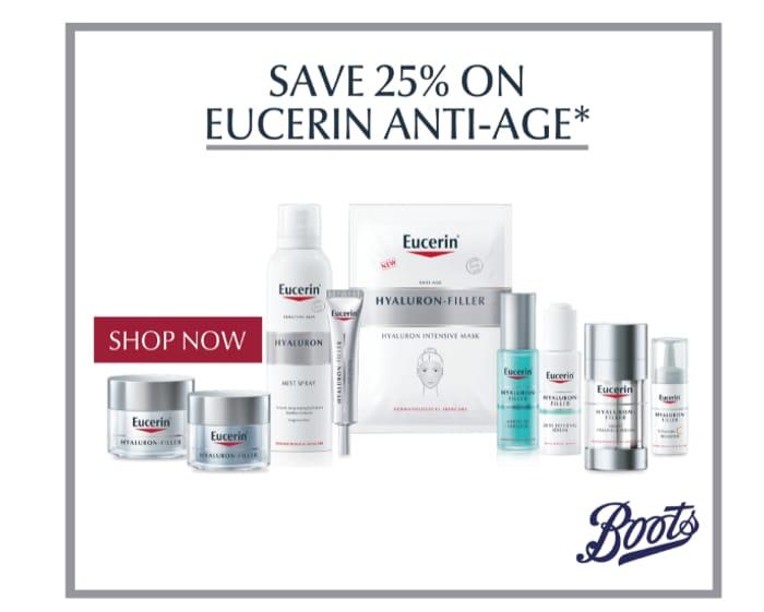 Save 25% On Eucerin Anti-Ageing