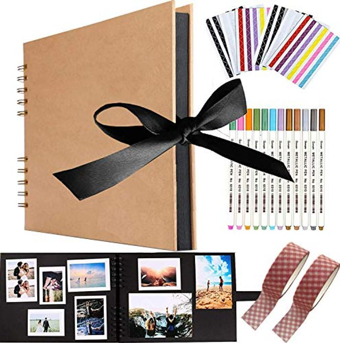 DIY Scrapbook, Viwril 80 Pages Photo Album Memory Books 12 X 8