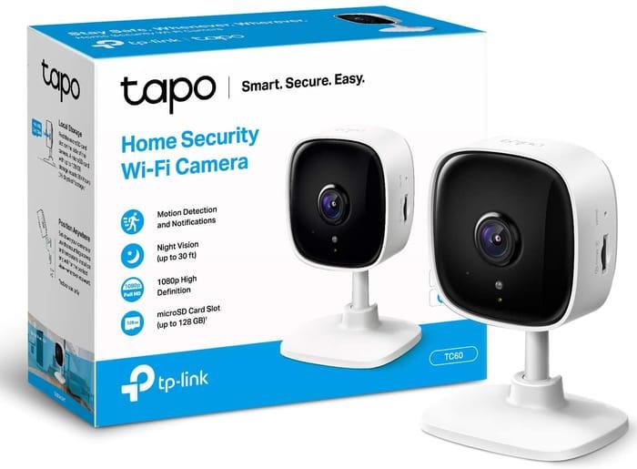 Tapo Mini Smart Security Camera, Indoor CCTV, Works with Alexa & Google Home