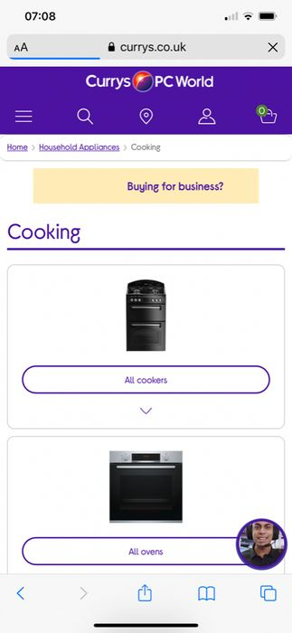 5% off Large Appliances at Currys