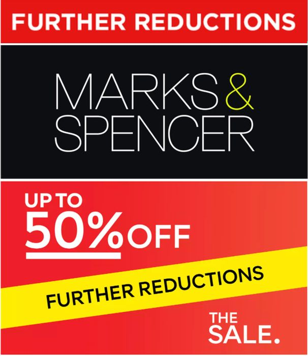 M&S SALE - Even More Off ! FURTHER REDUCTIONS
