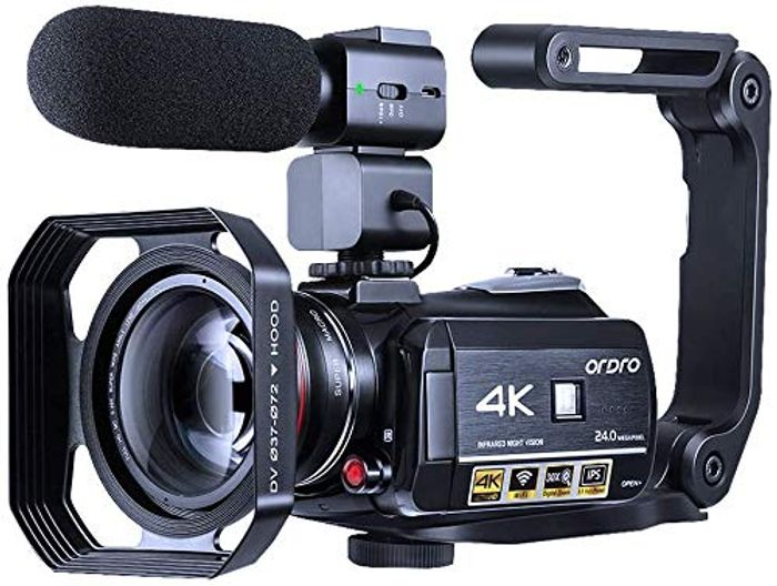 Video Camera 4K Camcorder ORDRO WiFi Ultra HD Vlog