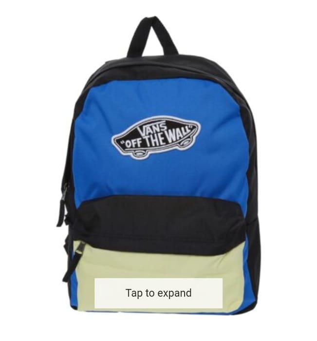 VANS Multicolour Colour Block Backpack