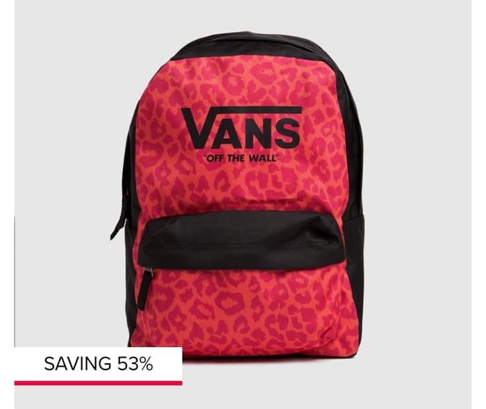 Vans Black & Pink Kids Realm Backpack