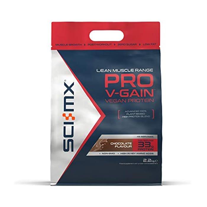 SCI-MX Nutrition Pro V-Gain Protein Powder, Plant Based, 2.2 Kg, Chocolate