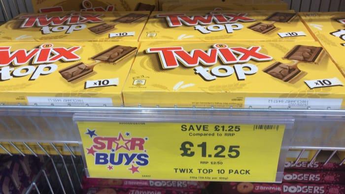 Star Buy Twix Top 10 Pack