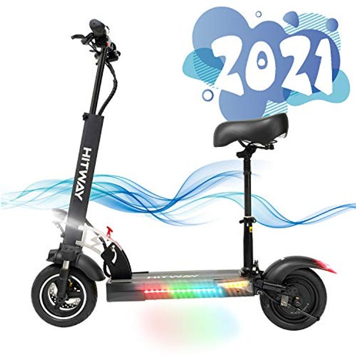Electric Scooter Adult, H5 Electric Scooters with Seat Fast Scooter 800w