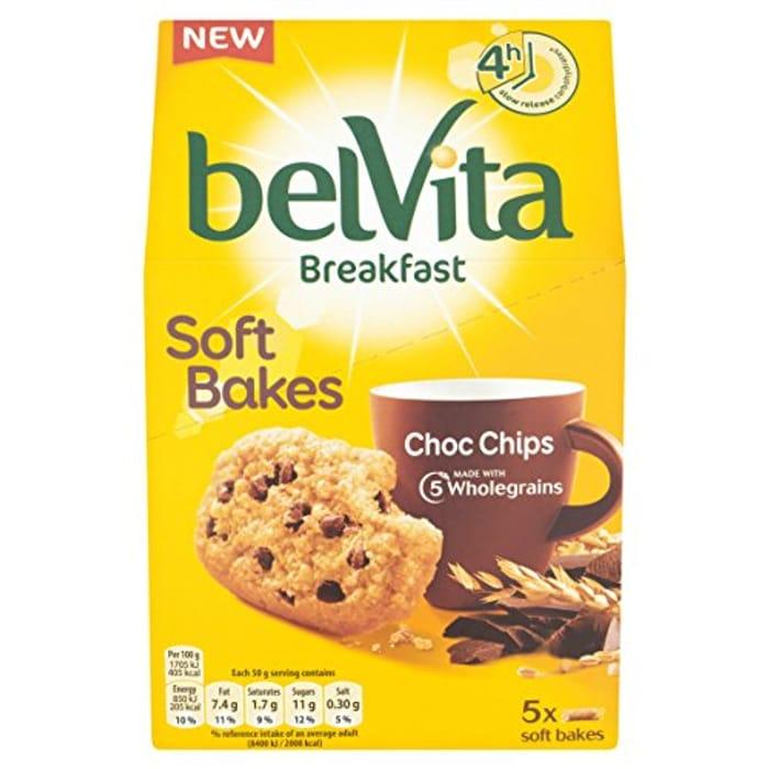 Belvita Breakfast Choc Chip Biscuits, 5 X 50 G