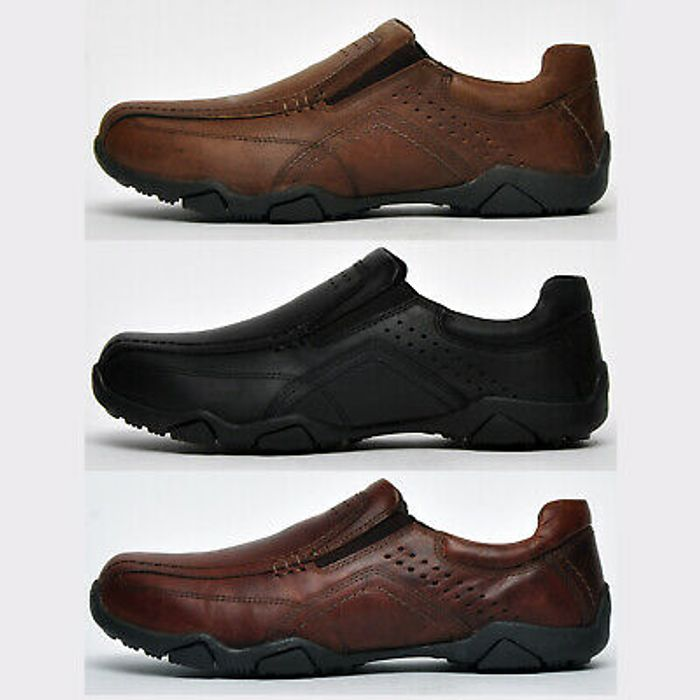 Red Tape Derwent REAL LEATHER Mens Slip on Comfort Shoes