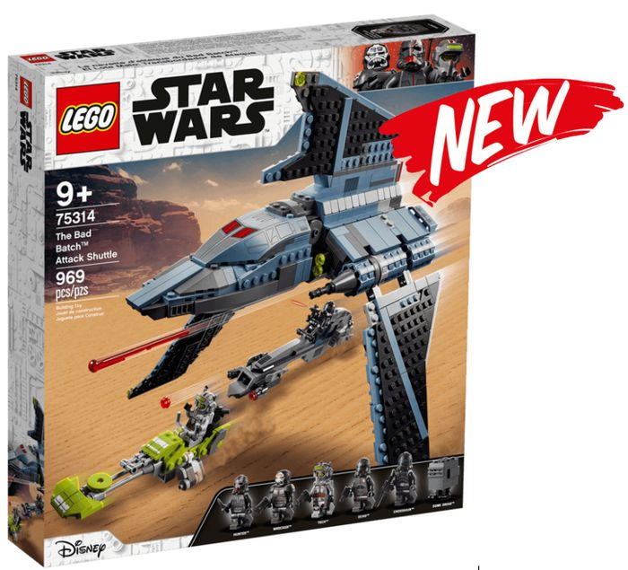 NEW! LEGO STAR WARS - The Bad Batch Attack Shuttle (75314)