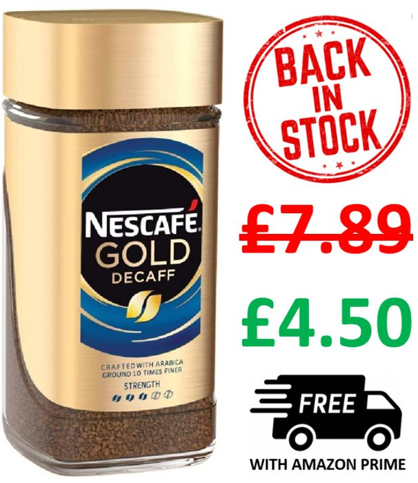 Nescafe Gold Blend Decaff Instant Coffee, 200g