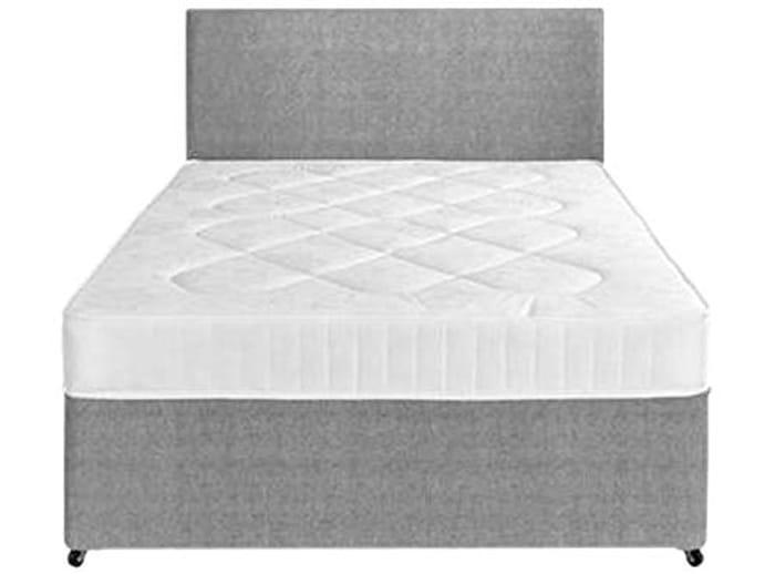 Perfect Sleep 4FT6 Double Fabric Divan Bed Set
