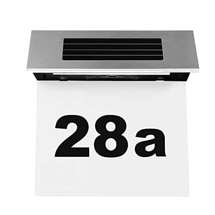 Solar Powered Door Plate Number Light