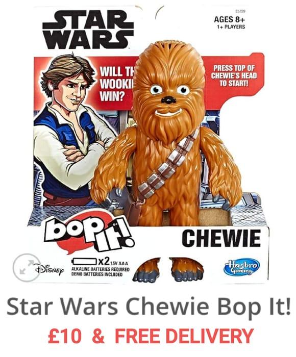 £10 Star Wars Chewie BOP IT! & FREE DELIVERY