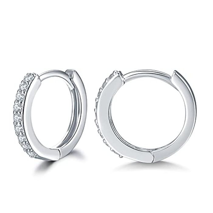DEAL STACK - Shuxin 925 Sterling Silver Hoop Earrings + 20% Coupon