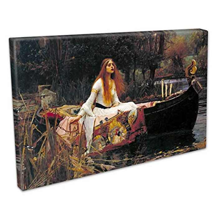 John William Waterhouse Lady of Shallot Canvas Picture with £10 off Coupon