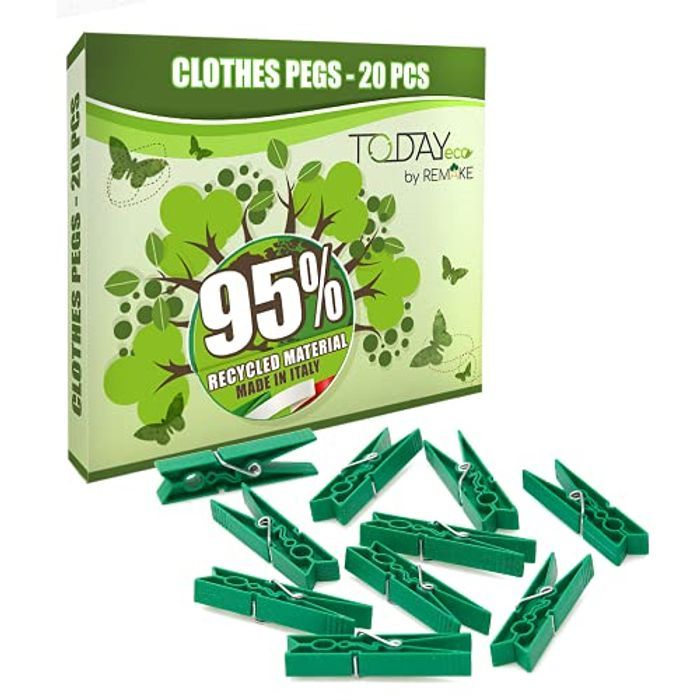 Ecological Clothes Recycled Plastic Pegs for Washing Line, 20pcs - Only £1.77!