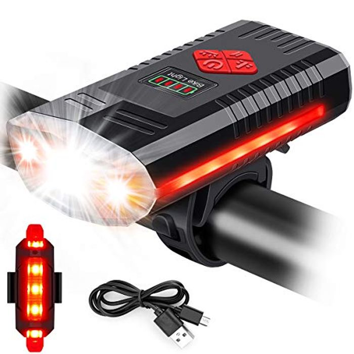 MOSFiATA Waterproof LED USB Rechargeable Bike Light with Bell - Only £6.00!