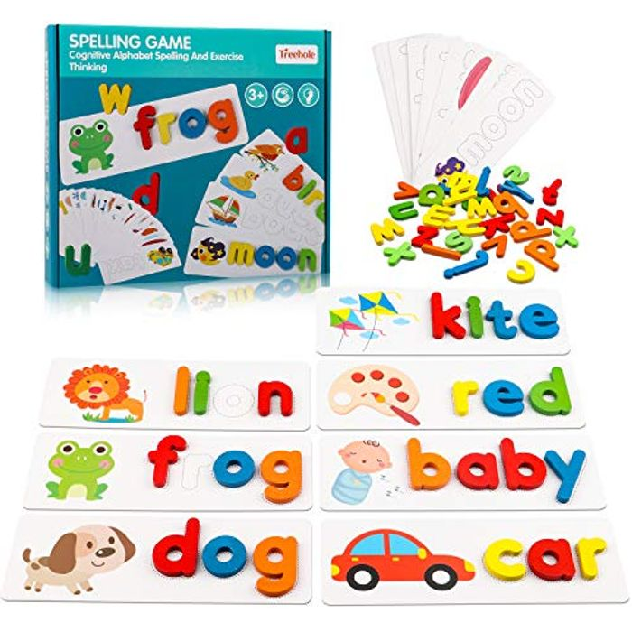 Montessori Educational Toys See & Spell Word Games for Toddlers - Only £5.10!