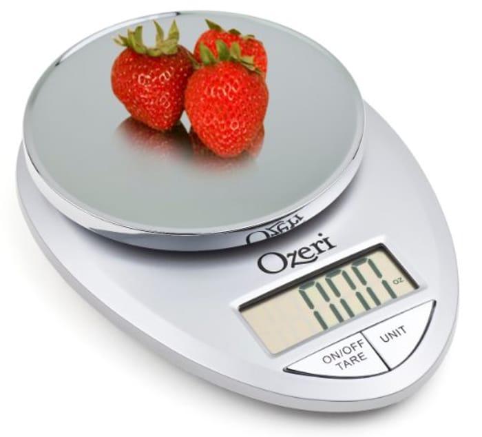 Ozeri Pro Digital Kitchen Food Scale, 1g to 12 Lbs Capacity