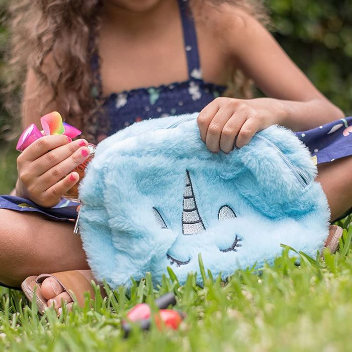 Hugmo Unicorn Fuzzy Embroidery Pouch (Various Options)