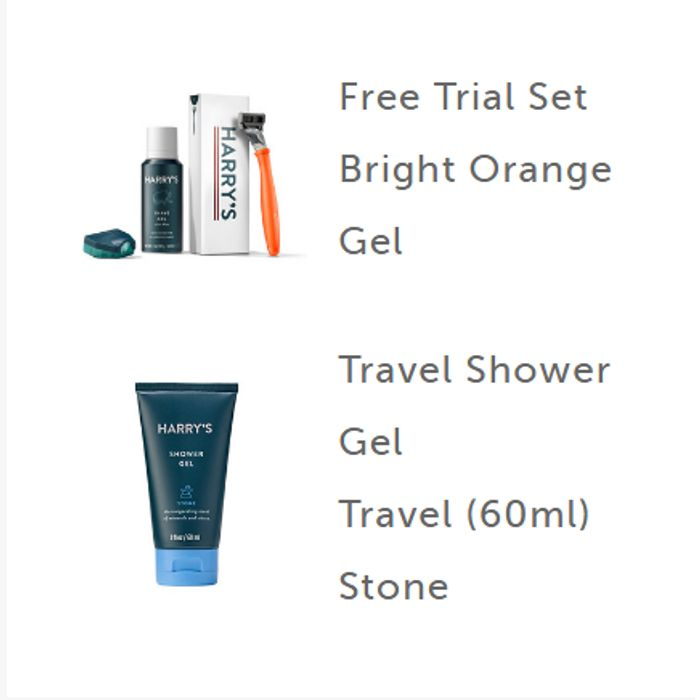Harry's Free Trial Shave Kit Plus Free Travel Size 60ml Shower Gel Worth £2