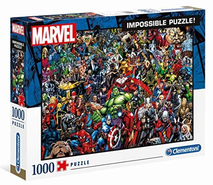 Impossible Puzzle-Marvel-1000 Pieces, Multi-Colour