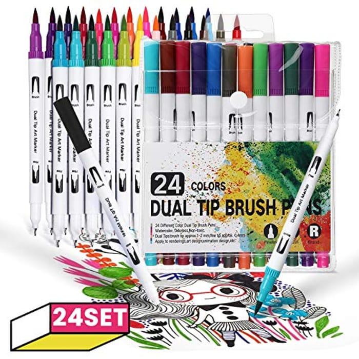 JOSEKO Dual Art Marker Pen, Sets of 24 - Only £7.49!