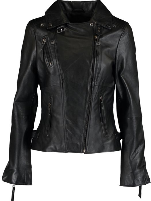 CHEAP! CIGNO NERO Black Perforated Biker Jacket. Free Delivery