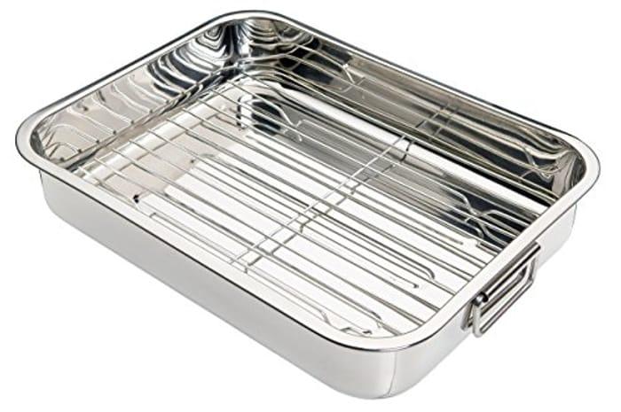 KitchenCraft KCRNR35 Stainless Steel Roasting Tin