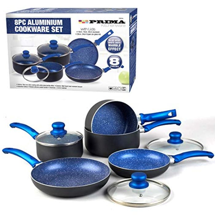 8PC Non Stick Induction Stone PAN Set - Only £36.95!