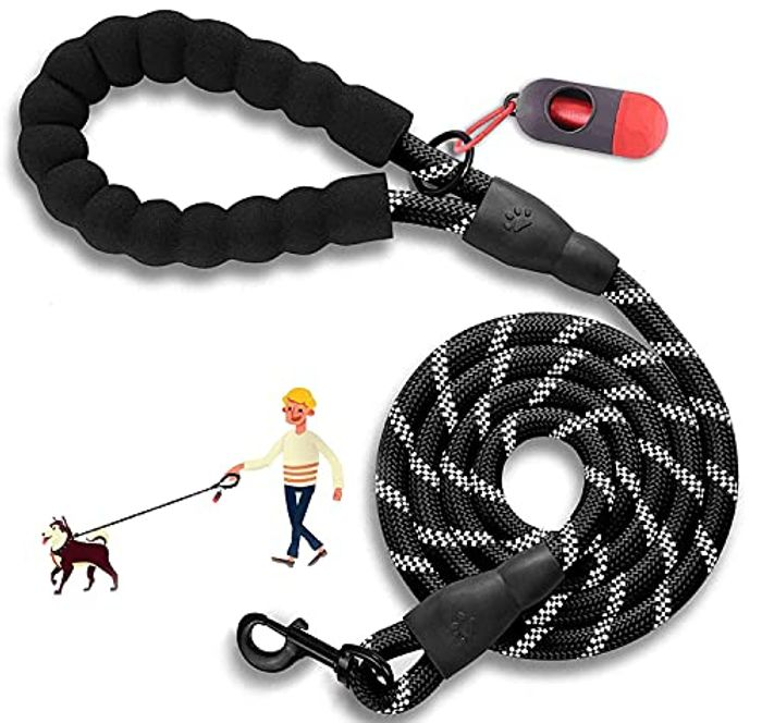 5 FT Comfortable Foam Padded Dog Leads Strong - Only £5.80!