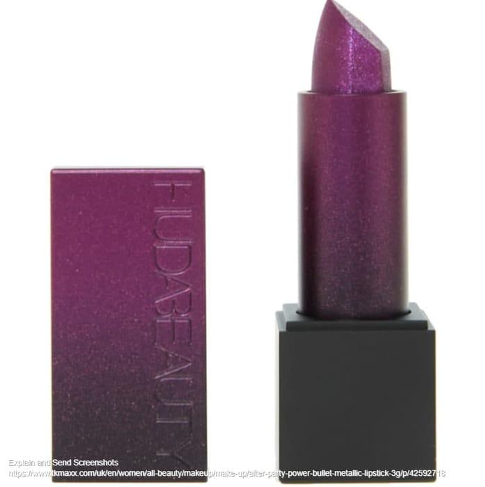 HUDA after Party Power Bullet Metallic Lipstick 3g