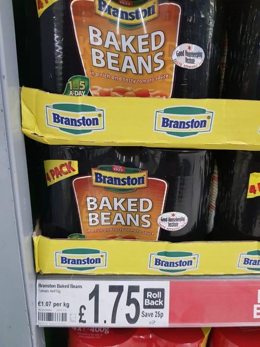 Branston Baked Beans in Tomato Sauce  4x410g