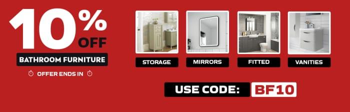 Save 10% off Bathroom Furniture